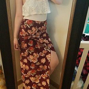Maxi Skirt/Body Suit Combo